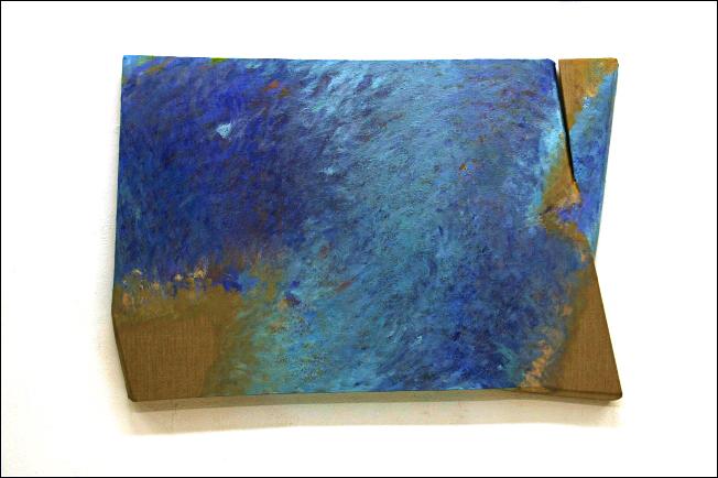 2012, Osmosi T-11 - Olio su tela sagomata, 80x120cm